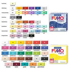 Fimo Soft & Effect Modelliermasse 57g verschiedene Farben Farbwahl per Mail