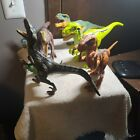 Lot+Of+8+Plastic+Dinosaurs+2+Make+Noise+5+Have+Moving+Parts