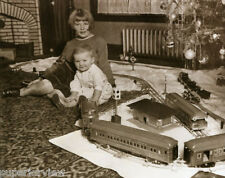 American Flyer Train Set at Christmas Vintage Trains Track Around Tree Railroad