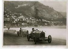 PHOTO ORIGINAL VINTAGE G.P. AUTOMOBILES DE MONACO EN 1929 CORRE LICORNE N°32