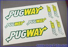 PUGWAY Peugeot Decals Set 106 306 206 207 Stickers GTi New Nice Look