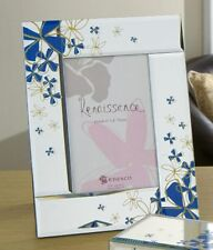 Periwinkle Flowers Mirror Photo Picture Frame 4x6 NEW 13006