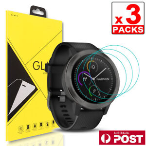 3x Garmin Vivomove HR Tempered Glass Screen Protector Film Guard