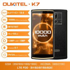 """10000mAh 6"""" OUKITEL K7 Smartphone Android 8.1 Octa Core 4GB+64GB 13MP Doppia SIM"""