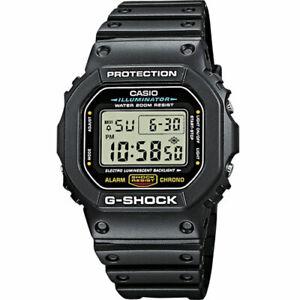 Casio G-Shock dw-5600e-1ver New Black Shiny light rubber