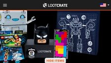 Feb 2017 Loot Crate BUILD SEALED CRATE Lego Dim Batman Power Rangers L Shirt