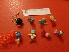 VINTAGE GUMBALL/VENDING BEAD PEOPLE CHARMS/TOYS LOT OF 8