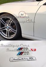 X2 BMW M emblem LATERALI M badge LOGO Motorspor sticker metallo ADESIVO M-Series