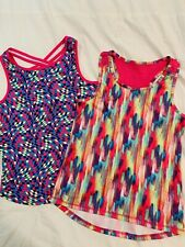 Skechers Girls 10/12 Athletic Lightweight Tank Tops Lot Of 2!