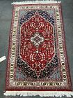 Tabrizz Kashaan Style  rug, Hand Knotted 3x5 Red Navy, Light blue 150 Kpsi