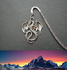 Lord of the Rings Dragon Smaug Bookmark Silver Middle-earth Birthday DnD D&D