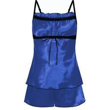 Nine X Womens Satin Pj's Sleepwear Plus Size Lingerie 8-24 Babydoll Cami Set
