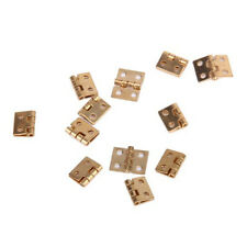 12pcs Mini Metal Hinge with Screws for 1/12 Dollhouse Miniature Furniture N3