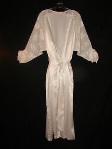Victoria's Secret Long Ivory Color Robe or Housecoat Sheer Sleeves size P/S