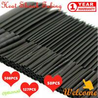 508 PCS Heat Shrink Heatshrink Wire Cable Tubing Tube Sleeving Sleeve Wrap Black