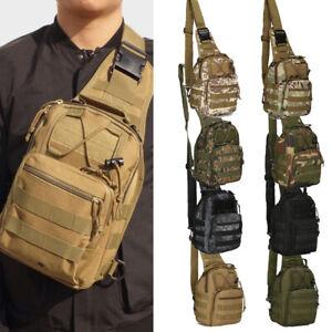 Tactical Military Sling Chest Bag Hiking Messenger Cross Body Shoulder Small Bag