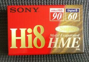 Sony Hi8 90 DigItal8 60 Video Camcorder PAL Tape Super Metal E5-90HME2 NEW