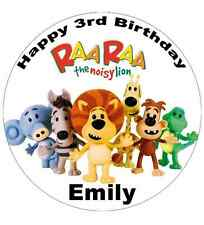 """Raa Raa the Noisy Lion Personalised Cake Topper 7.5"""" Edible Wafer Paper"""