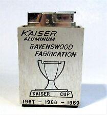 Vintage Ronson Rover Promo Mechero Kaiser Aluminio Ravenswood Tapadera 1969