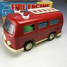 "Tin Fire Engine Wind-up ""VW Van"" MS090 w/ Original Box Made in China ANNA439"
