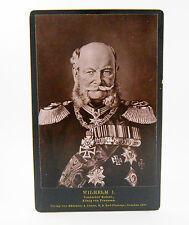 Kaiser Wilhelm I Photograph Rommler & Jonas Dresden 1887 Original Cabinet CDV!