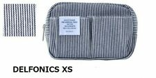 DELFONICS Inner Carrying Denim Canvas Pouch Case Small Bag XS Stripe 6 pockets !