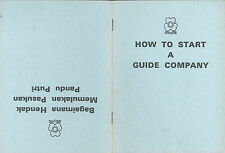 "1975 GIRL GUIDES OF MALAYSIA - MALAYSIAN GG ""How to Start A Guide Company"" BOOK"
