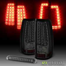 For Smoke 2003-2006 Chevy Silverado LED Tail Lights G2+3rd Brake Cargo Lamp Set