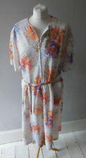 VINTAGE RETRO WOMENS GORGEOUS UNIQUE BEAUTIFUL TEA DRESS PLUS SIZE 18 20 22