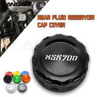 For Yamaha XSR900 XSR 900 2016 CNC+Alu Rear Fuel Brake Fluid Reservoir Cover Cap