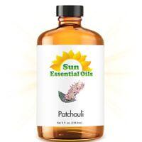 Patchouli Essential Oil (Huge 8oz) 100% Pure Amber Bottle + Dropper