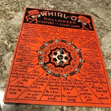 Vintage Whirl-O Halloween Fortune And Stunt Game - Sandra Pearl - Beistle Co.