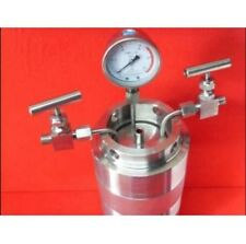 Hydrothermal synthesis Autoclave Reactor vessel + inlet outlet gauge 25ml 6Mpa