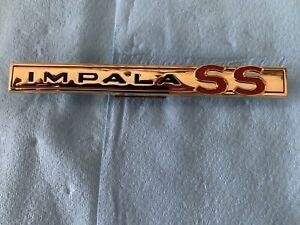 1964 Chevrolet Impala SS 24k Gold Plated Trunk Lid Emblem