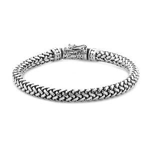 "BALI LEGACY 925 Sterling Silver Rope Bangle Bracelet Gift for Women Size 7.5"""