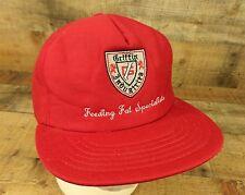 Griffin Industries Feeding Fat Specialists Hat Cap Farmer Trucker Snapback Red