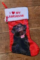 NWT I Love My Labrador Christmas Stocking Target Wondershop Chocolate Lab