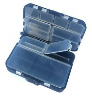 FISHING TACKLE BOX BLACK BIT BOX FOR FISHING TACKLE HOOKS CARP WEIGHTS SWIVELS