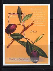 Gambia #2413 (2001 Medicinal Flower - Olive - sheet) VFMNH CV $5.50