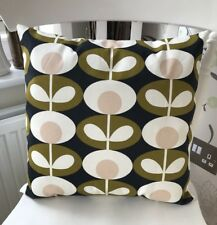 """Handmade Oval Flower Seagrass Green Cream Cushion Cover 16"""" Square"""