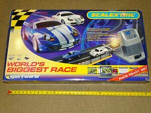 SCALEXTRIC 1:32 WORLDS BIGGEST RACE SLOT CAR SET  MINT SEALED BOX 36x20X5 inches