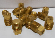 Lot Of 10 New 1/8 Inch NPT Male MPT Solid Square Head Plug Brass Pipe Fittings