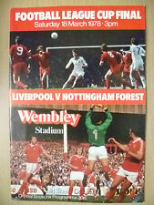 League Cup FINAL 1978 LIVERPOOL v NOTTINGHAM FOREST