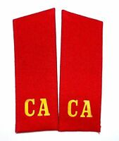 Pair of VINTAGE USSR Soviet Russian Military Army Uniform Shoulder Boards RED CA