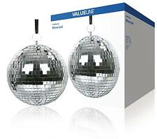 GLITTER BALL 200mm 8 Inch Mirror Ball Lightweight Silver for Disco & Parties