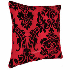 """New Cushion Cover Flock Damask Luxury Cushion Covers & Filled All Colour 18""""x18"""""""