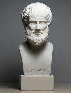 ARISTOTLE Greek Philosopher Scientist Handmade Bust Head Statue Sculpture 5.9 in