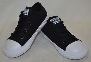 Converse® CT All Star II OX Black/White/Navy Toddler Boy's Shoes-Size 6/7 NWB