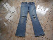 H9163 Levis 518 Superlow BOOTCUT Jeans W27 L30 Mittelblau  mit Mängeln