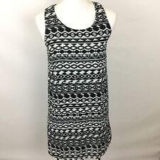 Body Central Sleeveless Dress Size Small Black White Southwestern Print